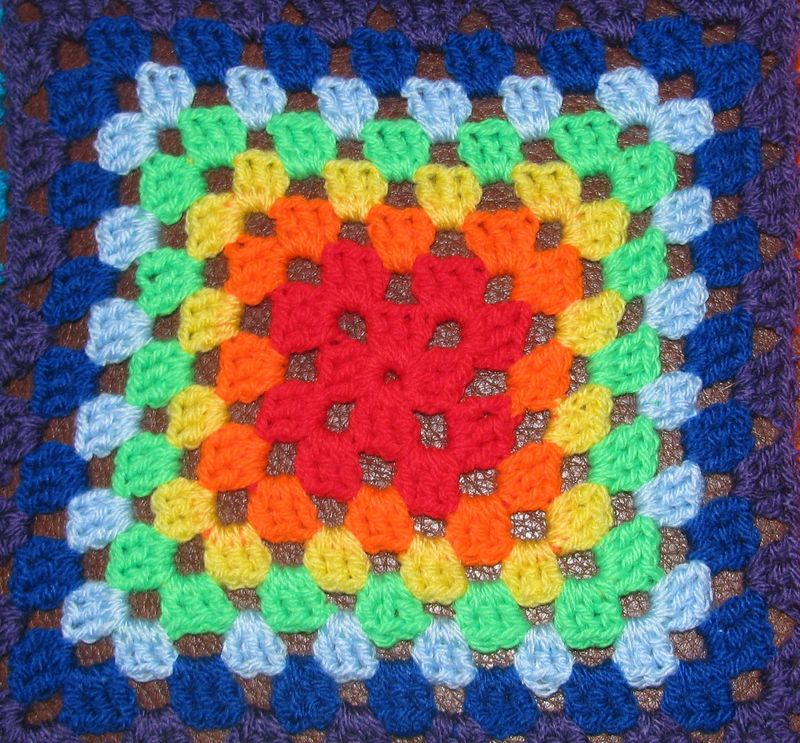 Rainbow granny square