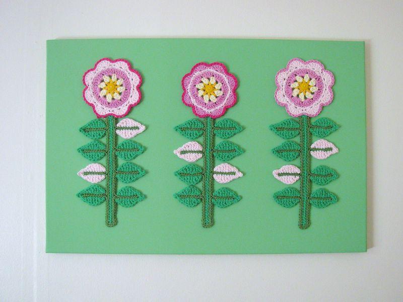 Crochet Flower Canvas