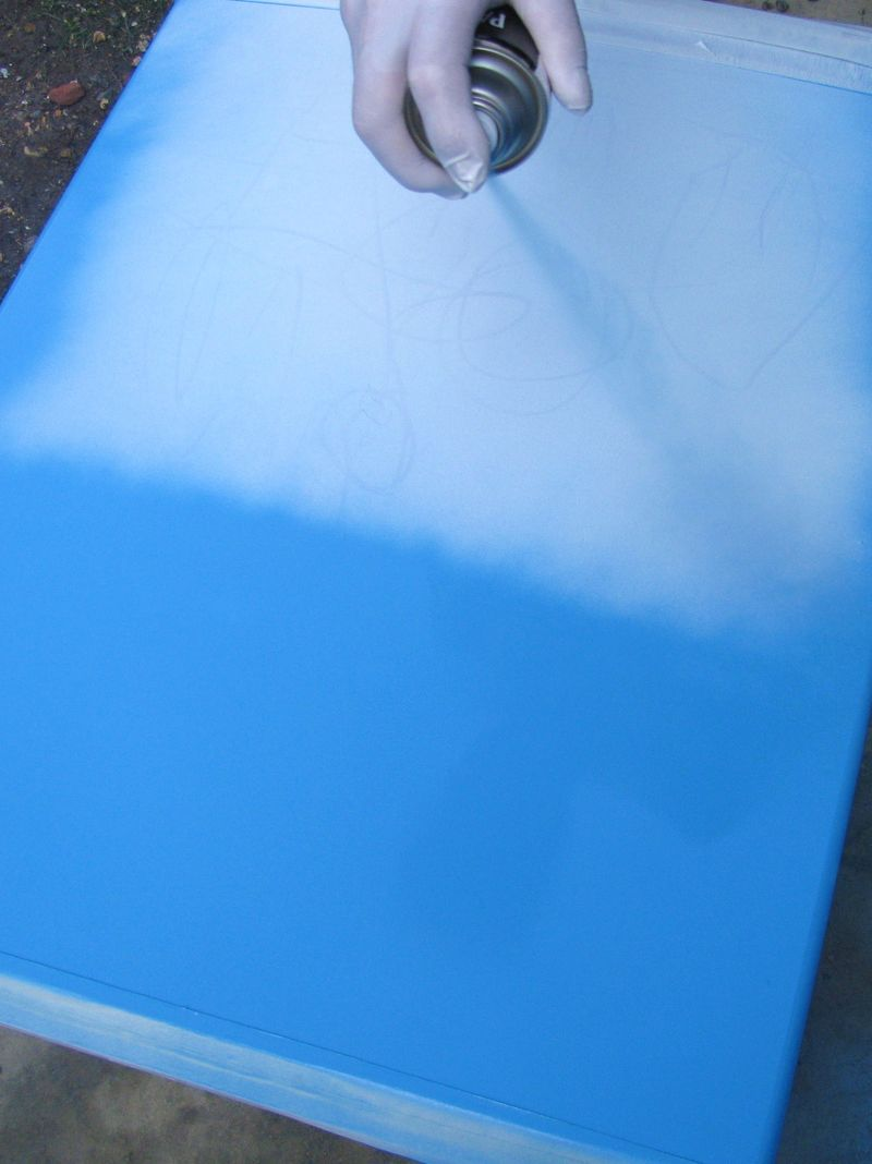 Painting the freezer blue