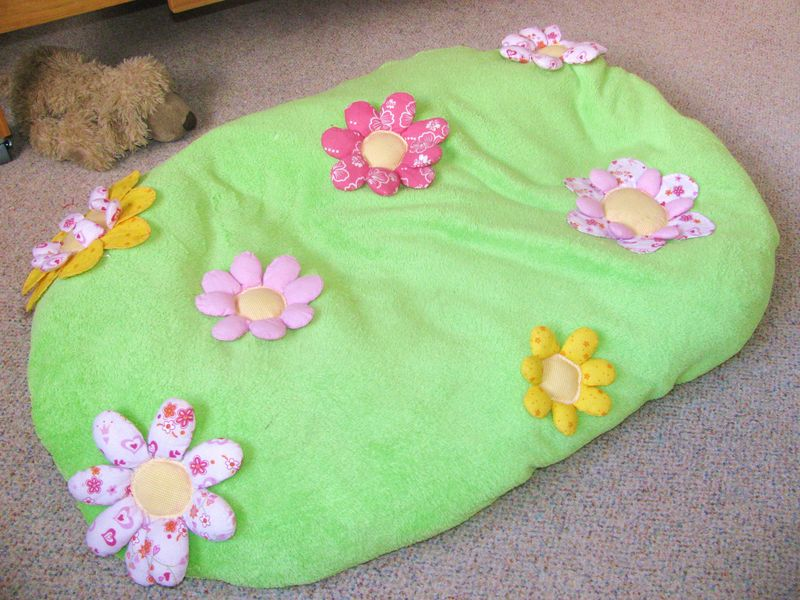 Flowery bean-bag