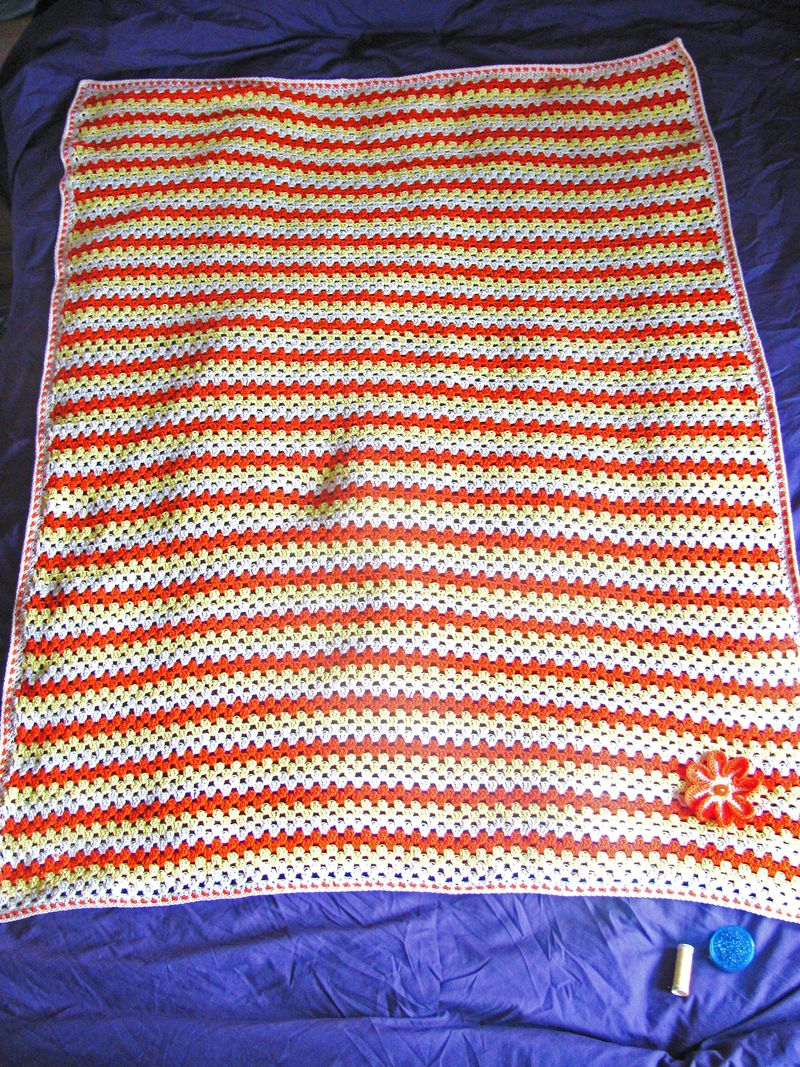 Yellow and Orange Granny Stripe